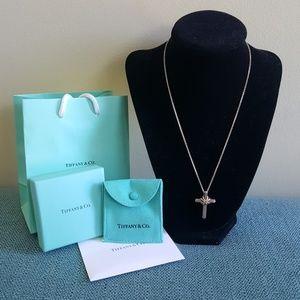 Tiffany 18k Gold & Sterling Silver Cross